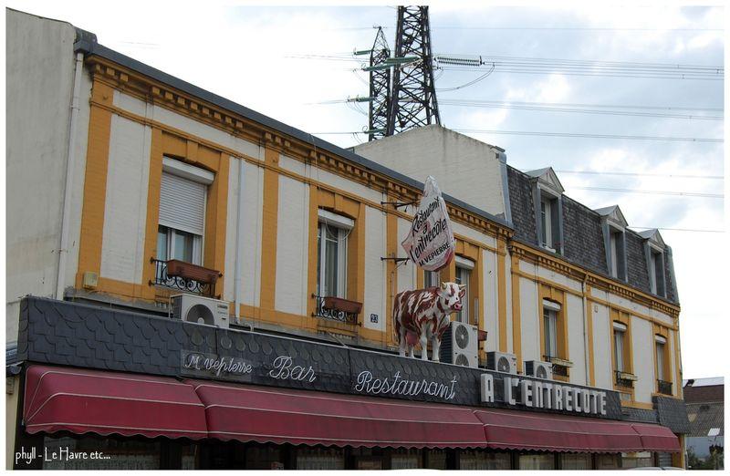 Bar restaurant a l entrecote le havre quartier des for Bar le bureau le havre