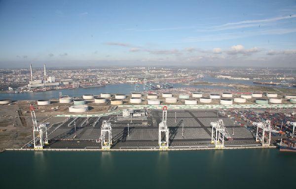 port du havre vue a 233 rienne du terminal bougainville le havre patrimonial