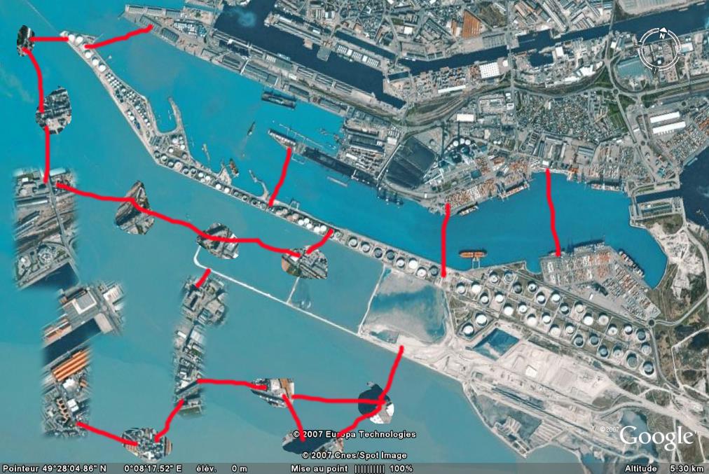 Port du havre vue satellite le havre patrimonial for Un porte vue