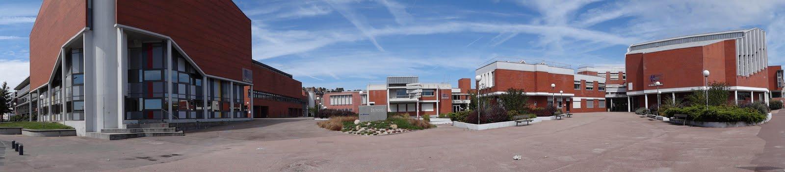 Vue panoramique de l'universite du Havre