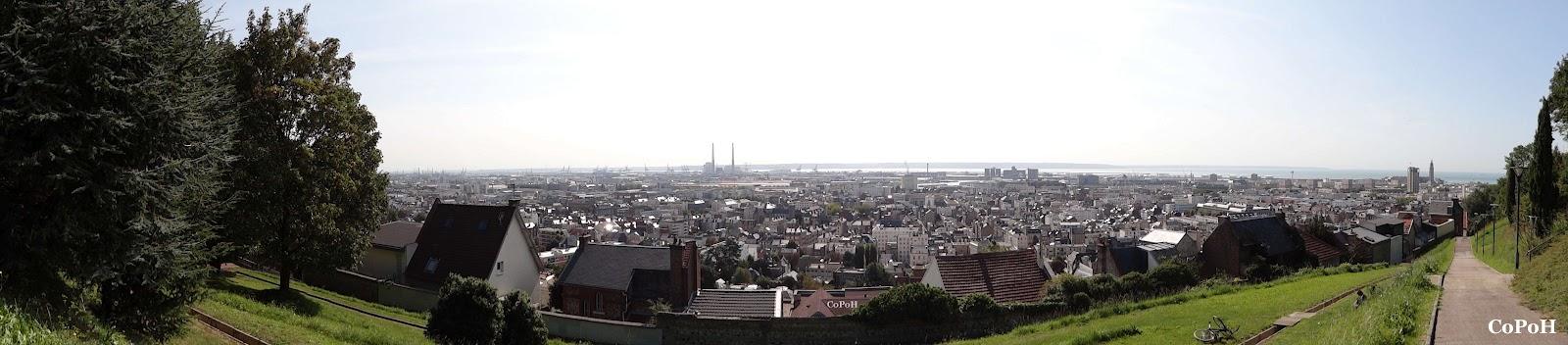 Vue Panoramique du Havre Felix Faure baie de seine