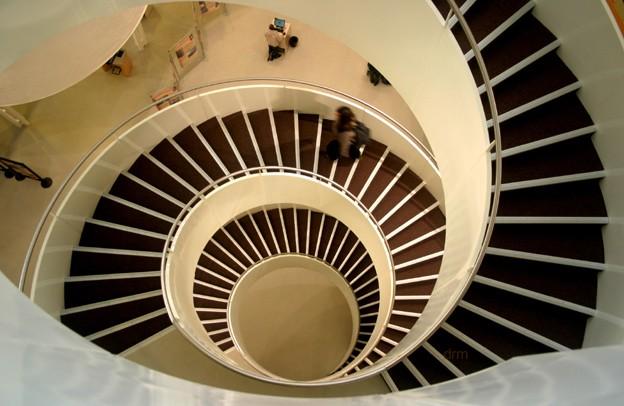 universit du havre l escalier de la biblioth que vu. Black Bedroom Furniture Sets. Home Design Ideas