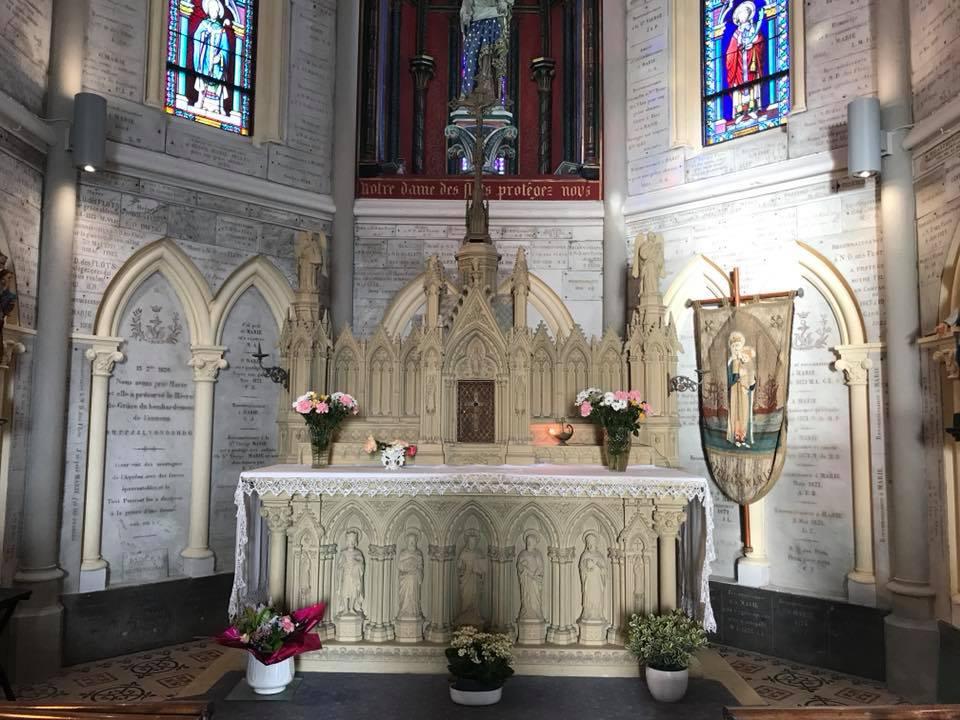 chapelle notre dame des flots sainte adresse autel le havre patrimonial. Black Bedroom Furniture Sets. Home Design Ideas